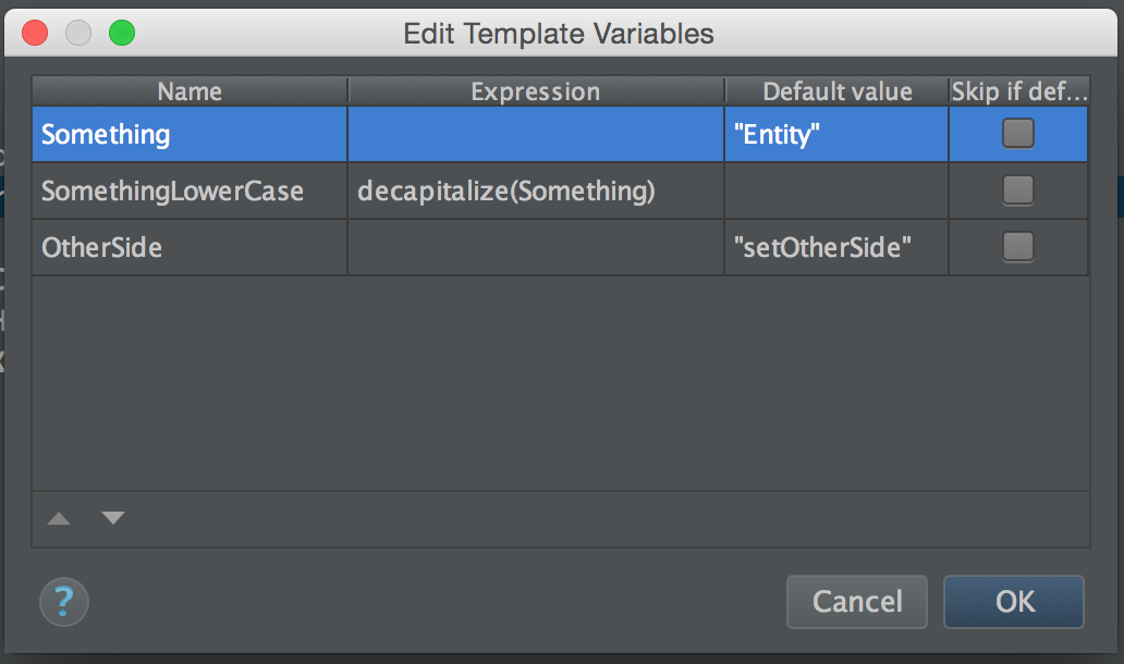 PHPStorm Live Template Variable Expression