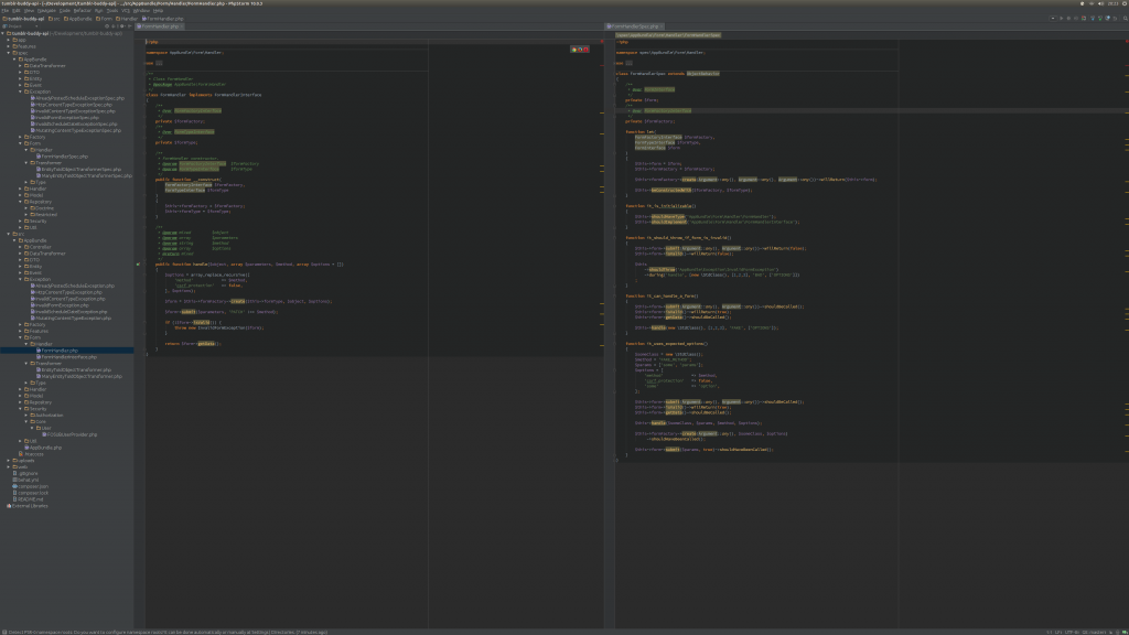 PHPStorm running full screen on Ubuntu 15.04 at 4k