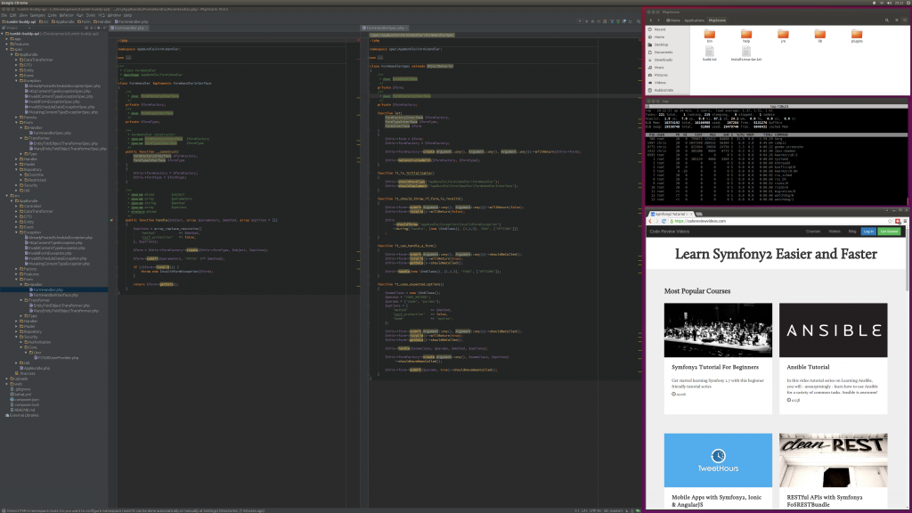 PHPStorm at 4k with other apps - plenty of screen real estate