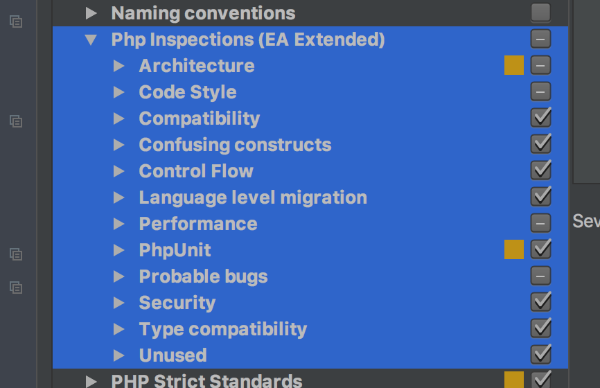PHP Inspections EA Extended inspection options